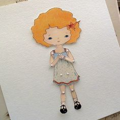 Paper Doll  Tangerine  Instant Download by Gingermelon on Etsy