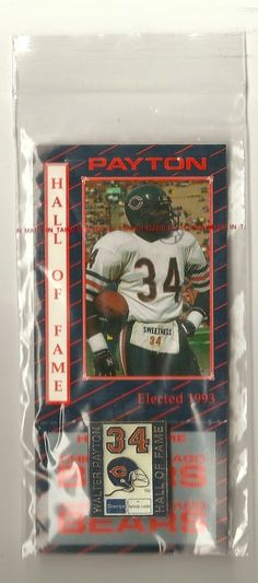 Chicago Bears WALTER PAYTON HALL OF FAME SGA pin #ChicagoBears