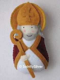 Saint Augustine Felt Saint Softie. $18.00, via Etsy.