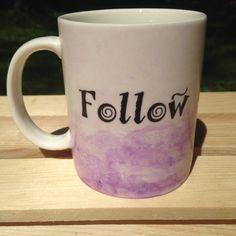 Montessori Quote Watercolor Mug Purple Follow by MOMtessoriLife