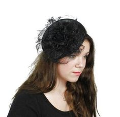 468cfc8d702 Hats By Cressida Golden Down Ascot Fascinator Hat Women s With Headband -  Black Hats By Cressida