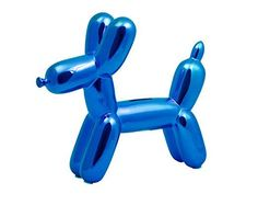 Made By Humans 504 Balloon Doggy Money Bank, Blue
