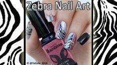 Zebra nail art / Маникюр зебра гель лкаками