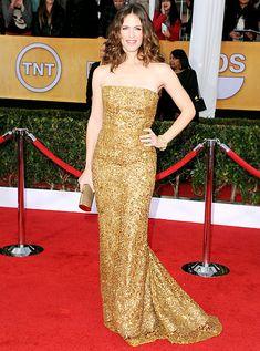 Jennifer Garner  The Odd Life of Timothy Green actress looked regal wearing an Oscar de la Renta gown, Brian Atwood heels and David Webb jewels