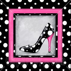 love the hot pink with polka dots!
