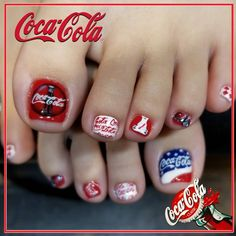 "DACCI🎨 on Instagram: ""* Coca-Cola 🍹🍹🍹🍹 * * * #いつもありがとうございます💗"" Coca Cola, Instagram, Feet Nails, Coke, Cola"