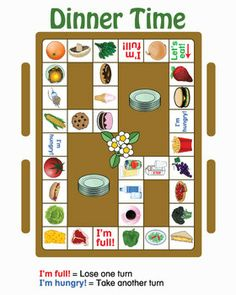 What a delicious way to review food vocabulary!  Gorge yourself as you move around the game board!  Seconds are allowed!