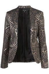 Paisley Collarless Jacket