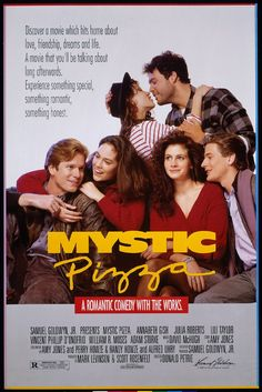 Mystic Pizza (1988) - Mystic Pizza® (in Mystic, CT) caught the eye of screenwriter Amy Jones, who was summering in the area. Ms. Jones chose Mystic Pizza as the focus and setting for her story of the lives and loves of three young waitresses. The movie was filmed on location in Mystic and neighboring towns.
