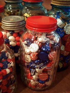 Mason Jar for Labor Day