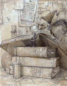 Monge, Jean-Baptiste (b,1971)- Elf Reading