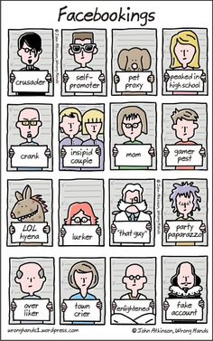 You may remember a post we did a couple of months ago featuring illustrator John Atkinson's super-abridged versions of classic novels. Well now Bored Panda has decided to compile an extended list of his wryly humorous comic creations. Funny Cartoons, Funny Memes, Funny Comics, Funny Videos, Social Media Humor, Spanish Humor, Facebook Humor, Types Of People, Popular Quotes