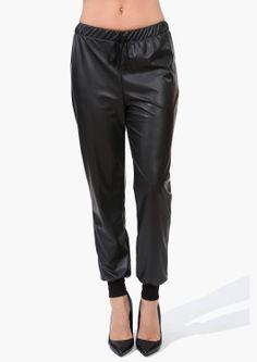 Midnight Leather Pants