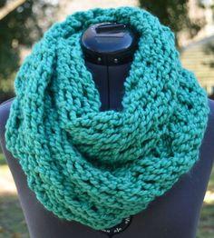 SOLD Cozy Mint Green Knit Infinity Scarf by ALuckyLadybug on Etsy