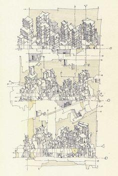 archisketchbook:G. Eddie GuidryScrapes 02Drawings: Pencil/Pen/Ink