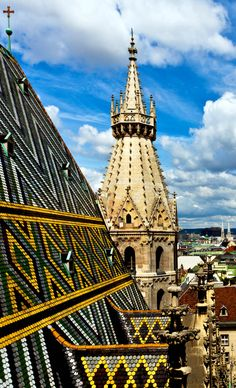 Beautiful City view from SCt. Stephan cathedral roof, Vienna. Austria         30+ Truly Charming Places To See in Austria