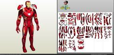 Papercraft .pdo file template for Marvel - Iron Man Mark 45 Figure.