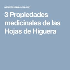 3 Propiedades medicinales de las Hojas de Higuera