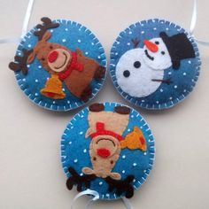 Hey, I found this really awesome Etsy listing at https://www.etsy.com/listing/247286253/felt-christmas-ornaments-set-of-3