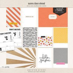 Sunny Days Ahead Journaling Cards by paislee press