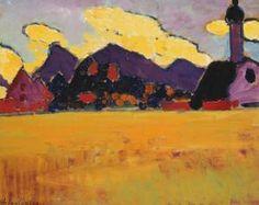 Giclee Print: Landscape near Murnau by Alexej Von Jawlensky : Wassily Kandinsky Paintings, Beach Landscape, Botanical Art, Framed Artwork, Wall Art, Find Art, Landscape Paintings, Giclee Print, Abstract