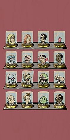 'Doctorama 2' Doctor Characters Parody - Plywood Wood Print Poster Wall Art