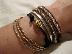 DIY Skull Charm Bracelet