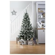 Explore our selected online non food range at Tesco. Tesco Christmas, All Things Christmas, Christmas Time, Flocked Artificial Christmas Trees, Fake Trees, Tesco Direct, Christmas Decorations, Holiday Decor, Flocking
