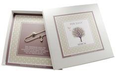 Namensketten - Taufschmuck mit Lebensbaum 925 Silber Rosenquarz - ein Designerstück von Bloomgart bei DaWanda