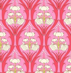 Lily Print In Cerise Pink