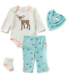 Starting Out Baby Girls Newborn9 Months Fawn and Woodland 4Piece Layette Set #Dillards