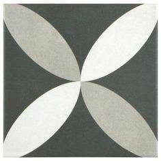 Merola Tile Twenties Petal 7-3/4 in. x 7-3/4 in. Ceramic Floor and Wall Tile FRC8TWEP at The Home Depot - Mobile