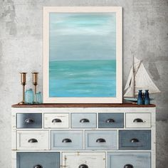 Coastal print nautical art Tropical ocean beach house decor nautical decorating ocean print Gift for best friend Beach mood 4