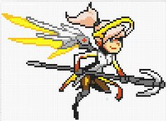 Overwatch Pixel Spray Pattern: Mercy