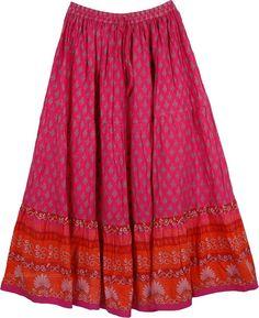 Hibiscus Cotton Patio Skirt Long Skirt Outfits, Pencil Skirt Outfits, Boho Outfits, Red Outfits, Modest Outfits, Tall Girl Fashion, Boho Fashion, Fashion Design, Skirt Fashion