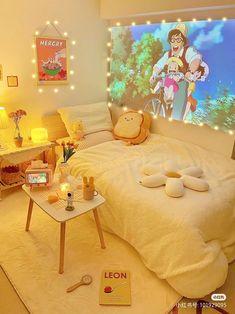 Cute Bedroom Ideas, Room Ideas Bedroom, Bedroom Decor, Dispositions Chambre, Deco Studio, Study Room Decor, Pastel Room, Room Design Bedroom, Indie Room