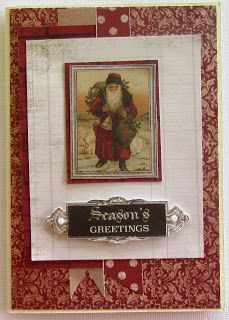 I recently went to a local craft show and purchased a card kit which used Kaisercrafts Letters to Santa paper pad and Ephemera pack as well. Beautiful Christmas Cards, Christmas Tag, Craft Cards, Diy Cards, Xmas Cards Handmade, Letter A Crafts, Santa Letter, Card Kit, Cardmaking