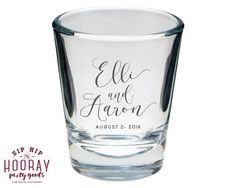 Wedding Shot Glasses Wedding Favors Monogrammed Shot Glass Personalized Wedding Favor Personalized Shot Glass Custom Wedding Gift 1416 by SipHipHooray