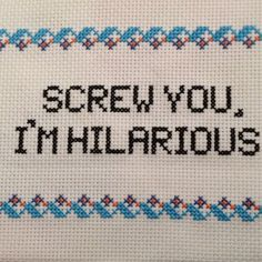 While Etsy has plenty of pillows and wall hangings cross-stitched with innocent cats and flowers, we also found some with much more sass.