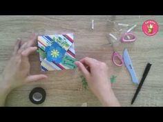 Carmens bunte Bastelwelt | Tutorial - Teelichthalter / Osterkörbchen - Efco Minifalzbrett - YouTube