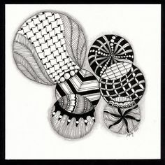 Circles n circles - DAiSYS & dots Boswell Tangle Doodle, Tangle Art, Doodles Zentangles, Zen Doodle, Doodle Art, Doodle Patterns, Tangle Patterns, Shape Patterns, Doodle Inspiration