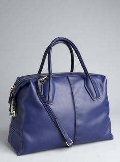 royal blue leather 'D-Styling' medium tote