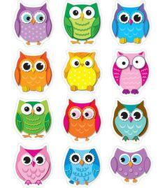 Colorful Owls Shape Stickers | Classroom décor from Carson-Dellosa