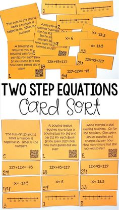 7 Best Two step equations images in 2013   Maths algebra, Two step ...