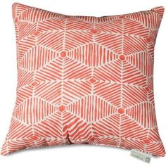 Majestic Home Goods Charlie Extra Large Decorative Pillow 24 Inch X Pink