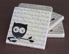 Set of 4 Owl Always Love You Coasters by janetarizona on Etsy, $16.00