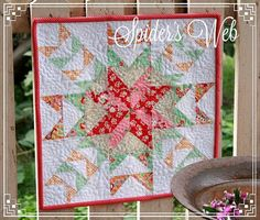 Spider's Web Mini Quilt- PDF Pattern