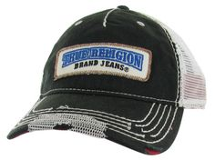 True Religion Jeans Men's/Unisex Twill Patch Trucker Cap