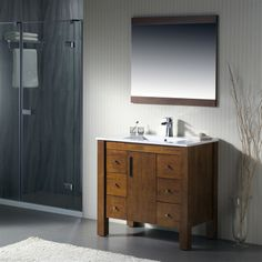 Vanity Parsons 37   Porcelain Top. Transitional BathroomStorage ...