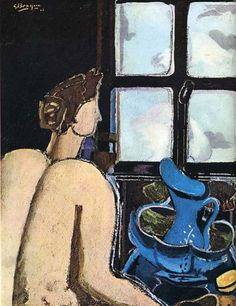 Woman with washstand by Georges Braque